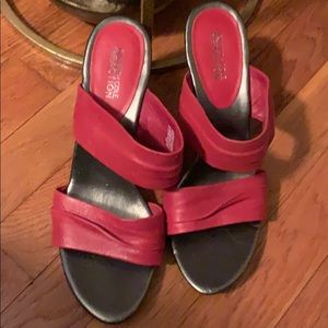 Red Leather Kenneth Cole Reaction Shoes 8 1/2
